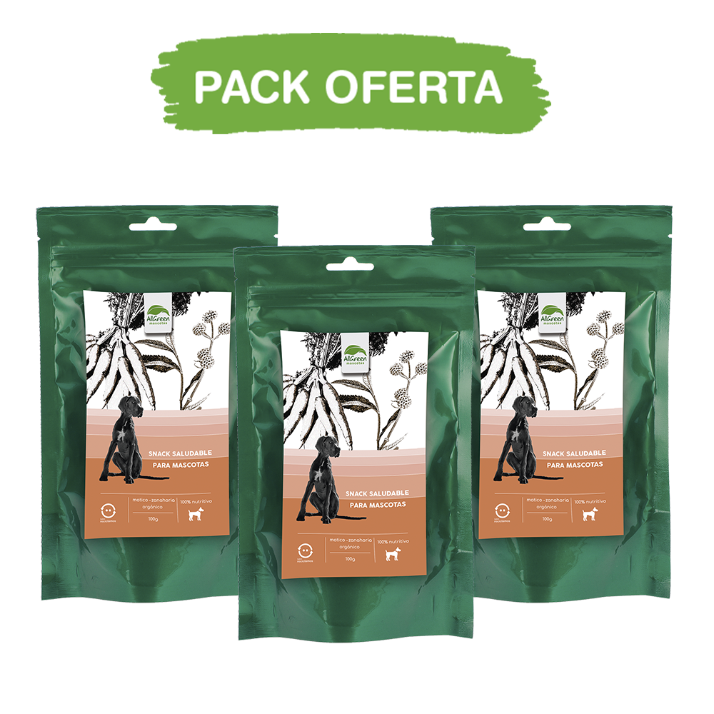 Pack: 3 Snack Saludable Matico – Zanahoria 100 grs
