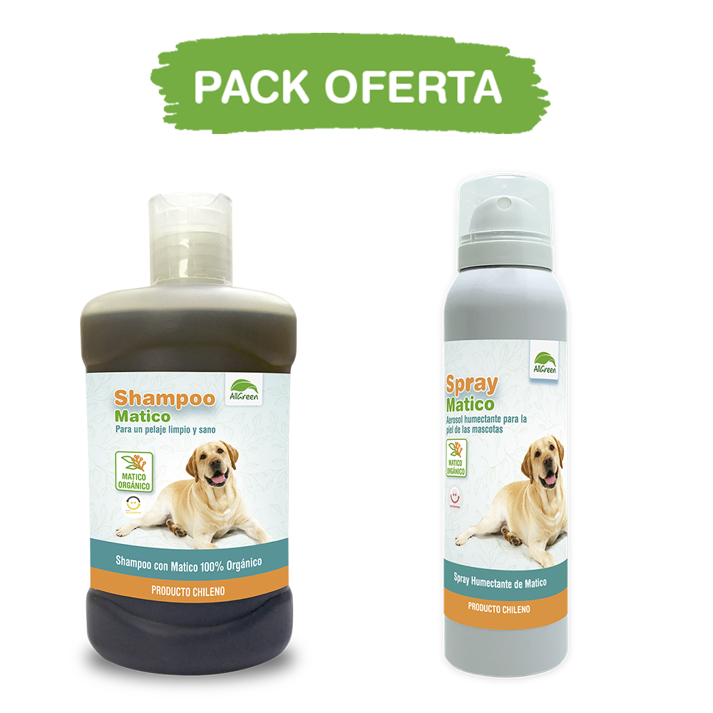 Pack: Shampoo de matico 300 ml + spray de matico 100 ML