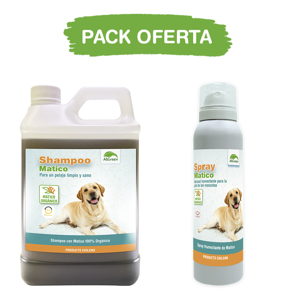Pack: Shampoo Matico 1 Lt+ Spray de Matico 100 ml