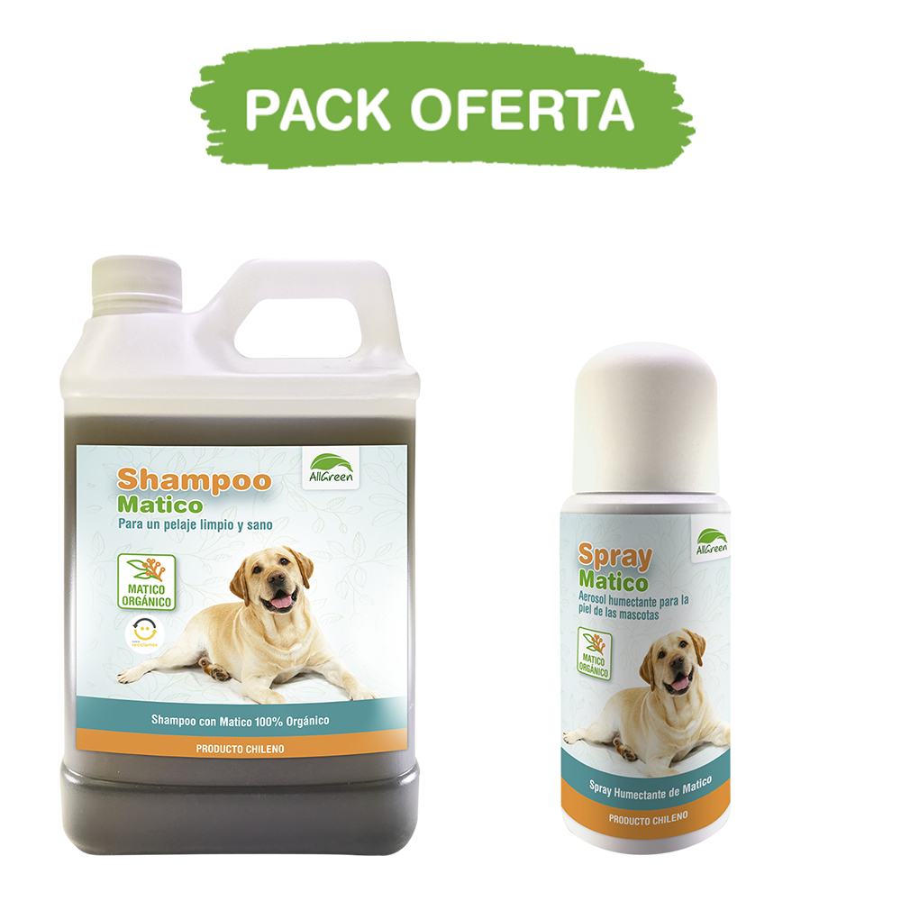 Pack: Shampoo Matico 1 Lt+ Spray de Matico 150 ml